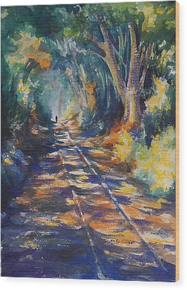 Light At The End Of His Life Wood Print by Becky Chappell