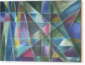 Light Patterns 2 Wood Print