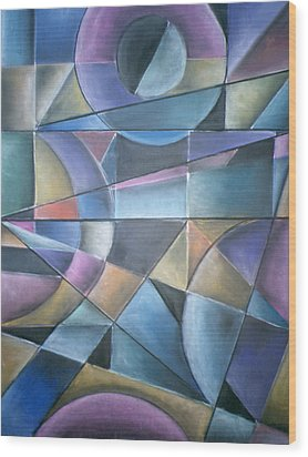 Light Patterns Wood Print