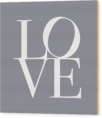 Love In Grey Wood Print by Michael Tompsett