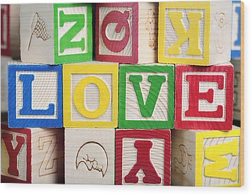 Love Wood Print by Neil Overy
