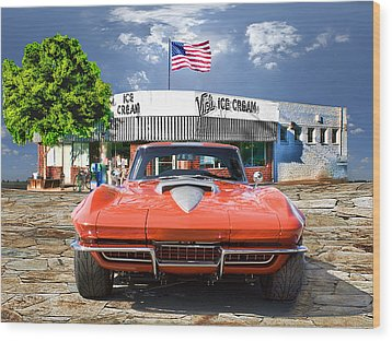 Made In The U.s.a. Wood Print by Michael Cleere