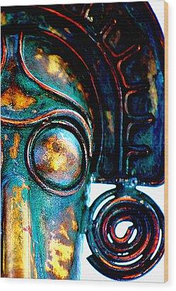 Masked Wood Print by Floyd Menezes