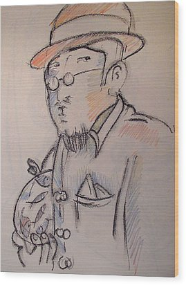 Matisse En Route To His Studio With Goldfish Wood Print by Charlie Spear