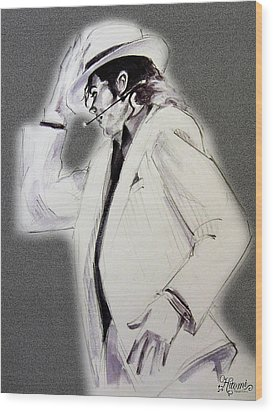 Michael Jackson - Smooth Criminal In Tii Wood Print by Hitomi Osanai