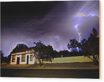 Midnight Storm Wood Print by Tim Nichols