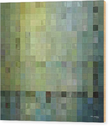 Modern Tile Art One Modern Decor Collection Wood Print by Mark Lawrence
