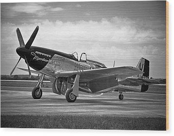 Moonbeam Mcswine P-51 Wood Print