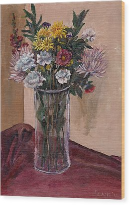 Mother's Day Bouquet Wood Print by Elizabeth Lane