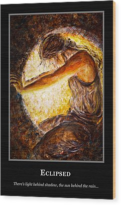 Wood Print featuring the painting Motivational Hope by Nik Helbig