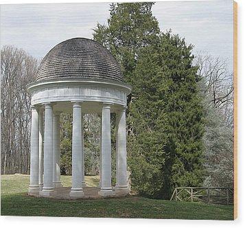 Mr. Madison's Temple Wood Print