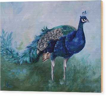 Mr. Peacock  Wood Print
