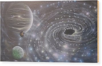 Multiverse 584 Wood Print by Sam Del Russi