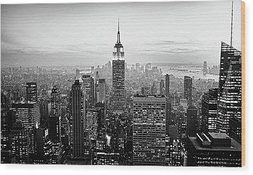 New York City Wood Print by Randy Le'Moine
