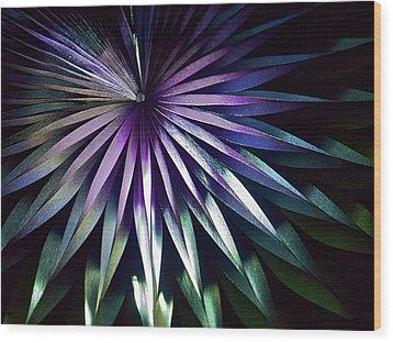 Night Bloom Wood Print by Photo ephemera