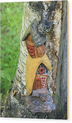 No Place Like Gnome Home IIi Wood Print by Eric Knowlton