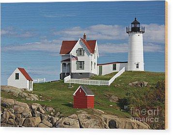Nubble Lighthouse - D002365 Wood Print by Daniel Dempster