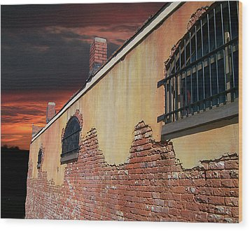 Wood Print featuring the photograph Old Jail by Larry Bishop