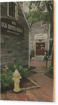 Old South Wharf Wood Print by David Poyant