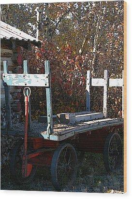 Old Wagon Wood Print by Stuart Turnbull