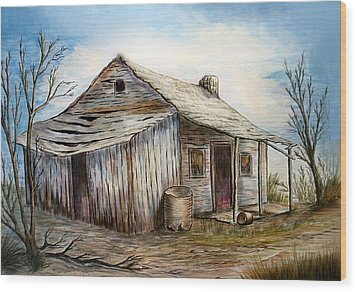 Our House Wood Print by Sue Ireland