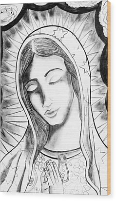 Our Lady Wood Print by Jeffrey Kyker
