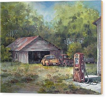 Outta Gas Wood Print by Tina Bohlman