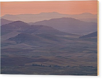 Palouse Morning From Steptoe Butte Wood Print by Donald E. Hall