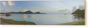 Wood Print featuring the photograph Panoramic1- St Lucia by Chester Williams