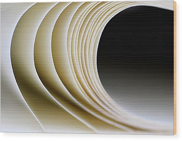 Wood Print featuring the photograph Paper Curl by Pedro Cardona