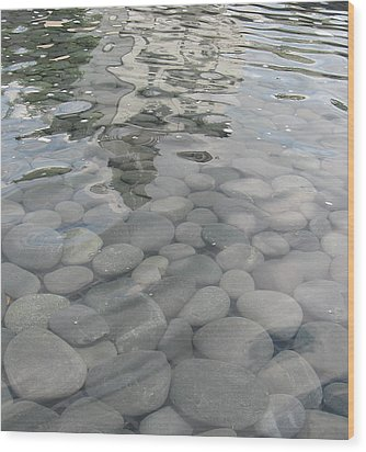 Wood Print featuring the photograph Pebbles by Nancy Dole McGuigan