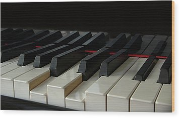 Piano Keyboard Wood Print by Martin Zalba is a photographer looking for a personal look,
