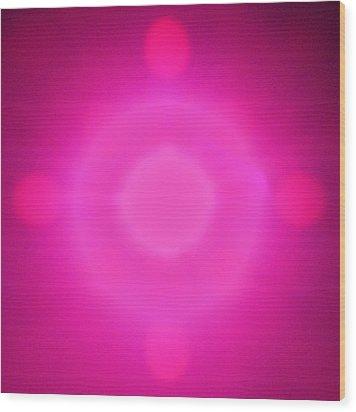 Pink Power Wood Print by Joshua Sunday