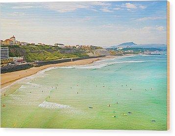 Plage De La Cote Des Basques, Biarritz, Aquitaine, Wood Print by John Harper