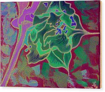 Pomegranate Flower Wood Print