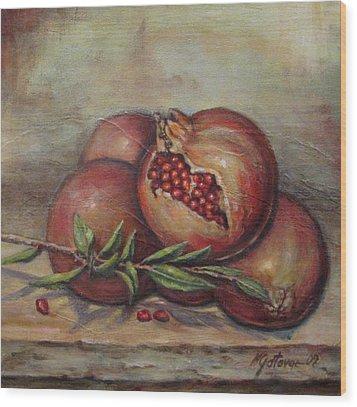 Pomegranetes Wood Print