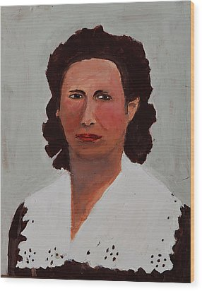 Portrait Of A Woman Wood Print by Swabby Soileau