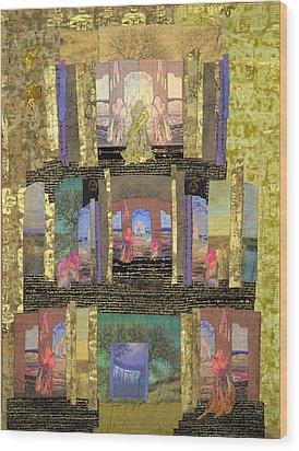 Prayers For Peace Wood Print by Roberta Baker