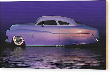 Purple Sled Wood Print