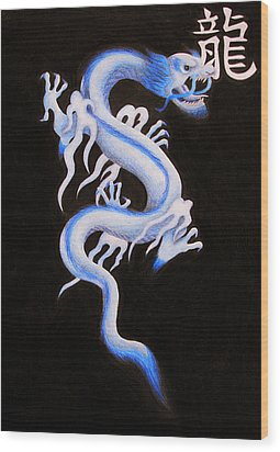 Qing Long Wood Print by Lauren Cawthron