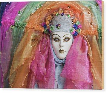 Rainbow Girl Wood Print