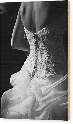 Rear View Of Bride Wood Print by John B. Mueller Photography