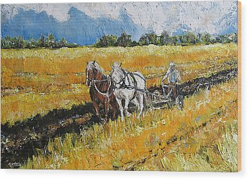 Wood Print featuring the painting Refreshing The Soil by Debora Cardaci