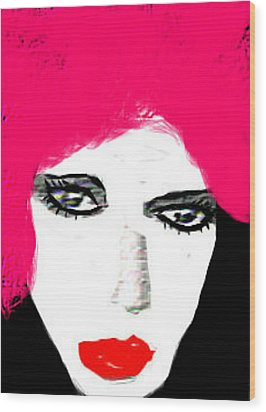 Retro Pink Wood Print