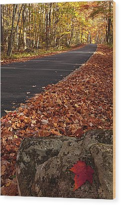 Roaring Fork Motor Trail In Autumn Wood Print by Andrew Soundarajan