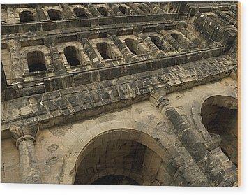 Wood Print featuring the photograph Roman City Gate - Porta Nigra by Urft Valley Art