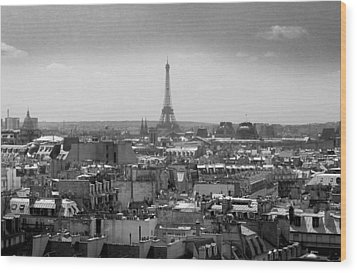 Roof Of Paris. France Wood Print by Bernard Jaubert