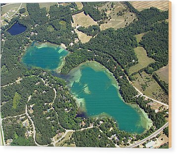 S-045 Stratton Lake Waupaca County Wisconsin Wood Print