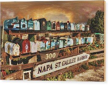 Sailors Mailbox Wood Print by Michael Cleere