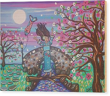 Sakura Dreams Wood Print by Stephanie Temple